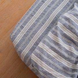 Indigo Washed Bed Linen Jazz Fitted Sheet Deep Pocket