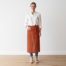 Chef's Apron Brick Stone Washed Linen
