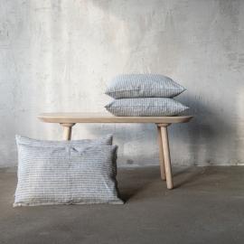 Linen Cushion Cover Indigo Natural Brittany