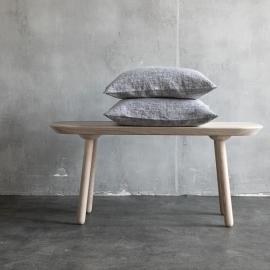 Linen Cushion Cover Black Francesca