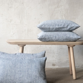 Linen Cushion Cover Indigo Philippe