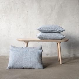 Linen Cushion Cover Indigo Francesca