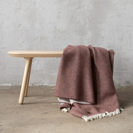 Choco Brown Wool Throw Roberto