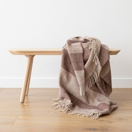 Choco Brown Wool Throw Luigi