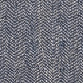Cherry Linen Fabric Chevron Prewashed