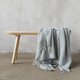 Blue Wool Throw Bruno