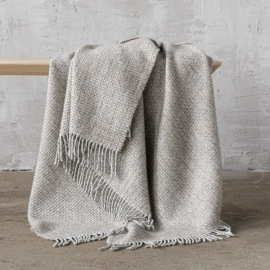 Beige Wool Throw Bruno