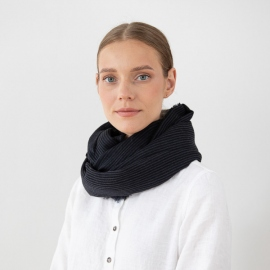 Black Wool Scarf Fabiene
