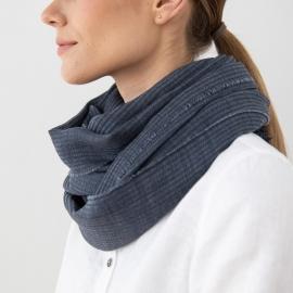 Blue Wool Scarf Fabiene