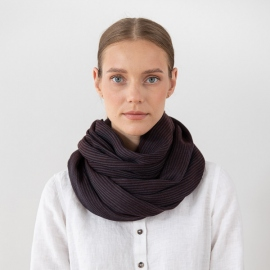 Brown Wool Scarf Fabiene