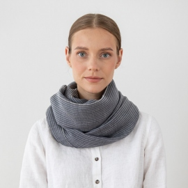 Grey Wool Scarf Fabiene