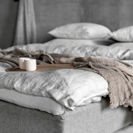 Linen Pillow case Light Grey Linen