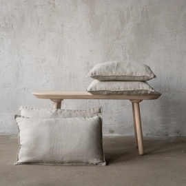 Linen Cushion Cover Natural Rustico Washed