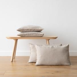 Linen Cushion Cover Natural Terra Fringe