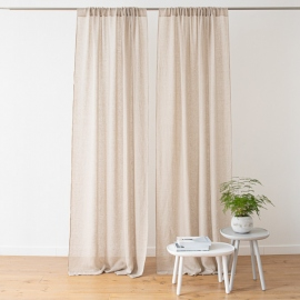 Linen Curtain Panel Natural Garza