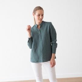 Balsam Green Linen Shirt Toby