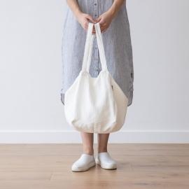 Linen Beach Bag Off White Lara