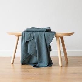 Balsam Green Linen Waffle Bath Towel Washed