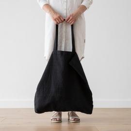 Linen Shopping Bag Terra Black