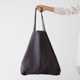 Linen Shopping Bag Terra Grey