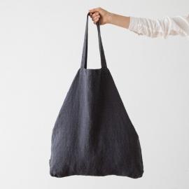 Linen Shopping Bag Terra Charcoal