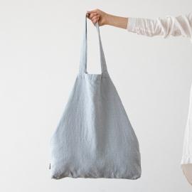 Linen Shopping Bag Terra Ice Blue