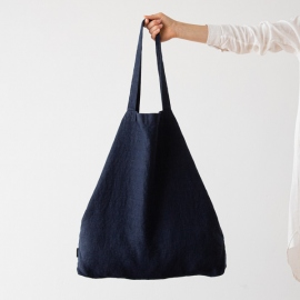 Linen Shopping Bag Terra Navy