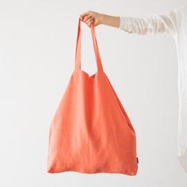 Linen Shopping Bag Terra Coral