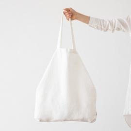 Linen Shopping Bag Terra Off White