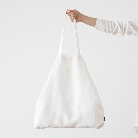 Linen Shopping Bag Terra Optical White