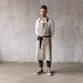 Rustic Linen Men's Apron Natural