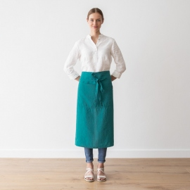 Chef's Apron Sapphire Stone Washed Linen