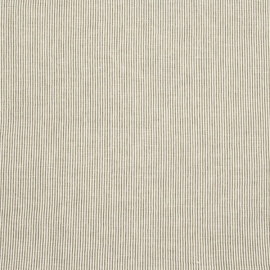 Linen Fabric Washed Pinstripe Green White