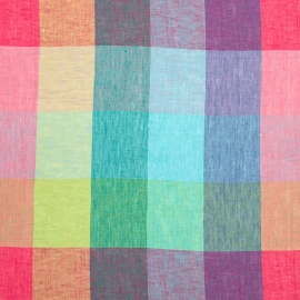 Linen Fabric Washed Milano Multicolor
