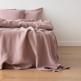 Washed Bed Linen Pillow Case Dusty Rose