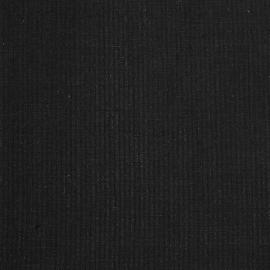 Linen Fabric Stripe Black