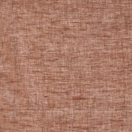 Linen Sheer Fabric Brown Twist Open