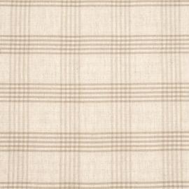 Linen Fabric Check Cream