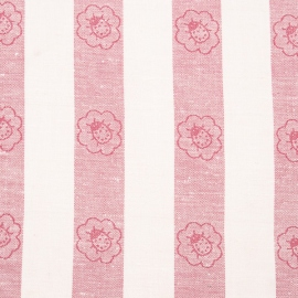 Linen Fabric Print Pink