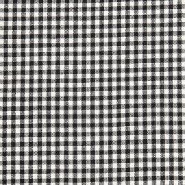 Linen Cotton Fabric Sample Black White