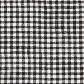 Linen Fabric Gingham Black White