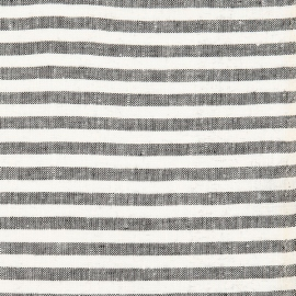 Linen Fabric Stripe Black White
