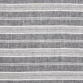 Linen Fabric Multistripe Navy White