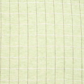 Linen Fabric Sample Check Green