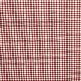 Linen Fabric Sample Check Red White