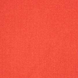 Linen Fabric Sample Plain Red