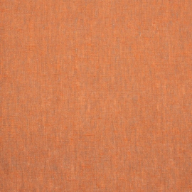 Linen Fabric Melange Orange