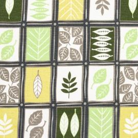 Linen Fabric Sample Print Green