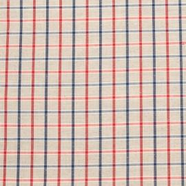 Linen Fabric Sample Check Multicolor