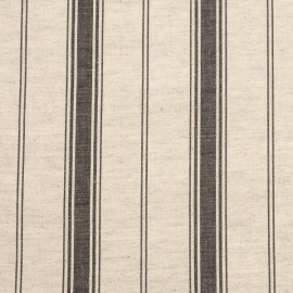 Linen Fabric Sample Multistripe Natural Black